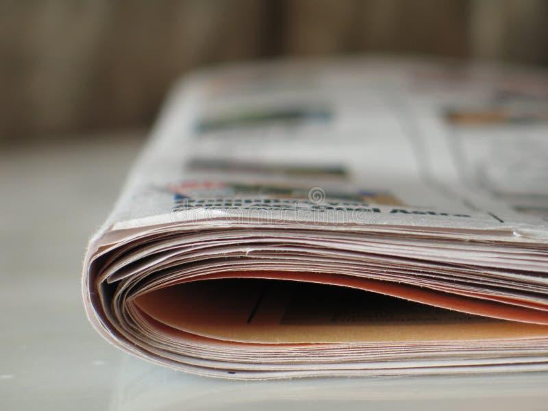 报纸视图 库存照片