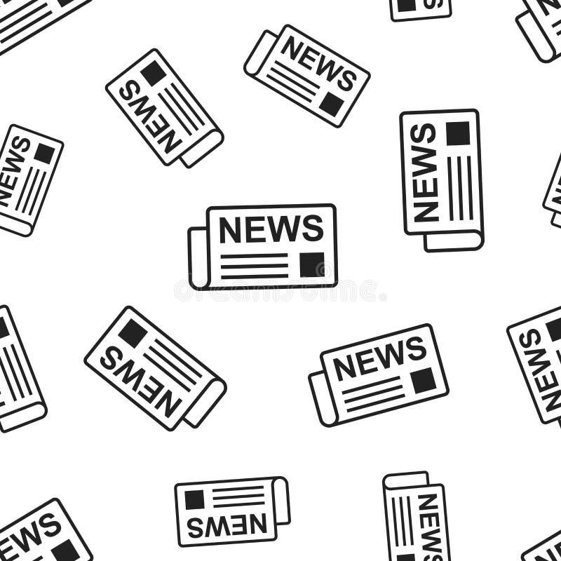 报纸,新闻无缝的样式背景 企业概念ve 向量例证