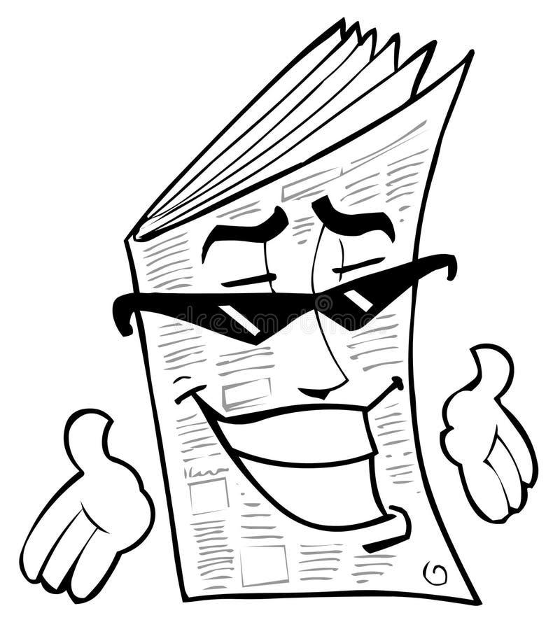 报纸 向量例证