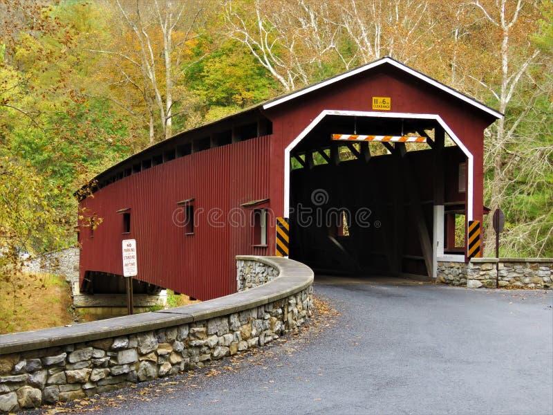 报道的桥梁colemanville 免版税库存照片
