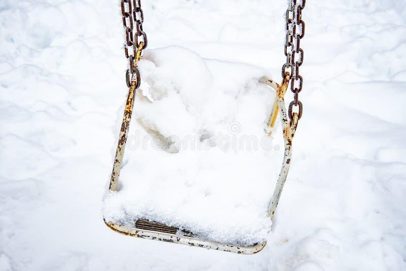 报道的雪摇摆 免版税图库摄影