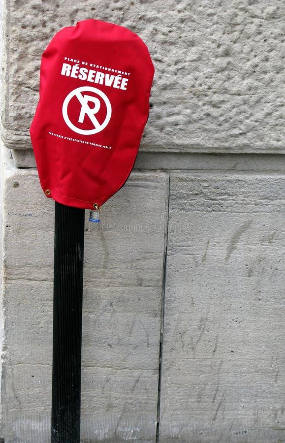 报道禁止停车符号 免版税库存照片