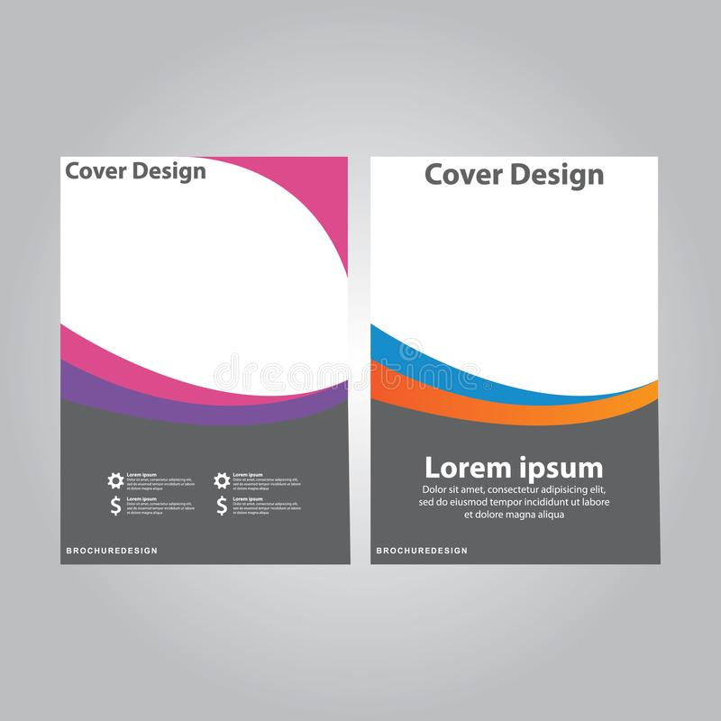 报道设计年终报告,传染媒介飞行物企业小册子的模板设计 库存例证