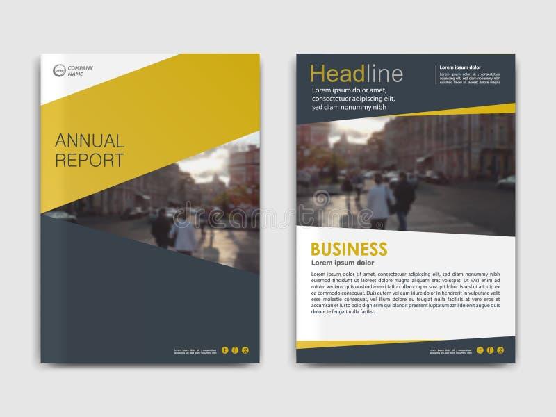 报道设计年终报告,传染媒介模板小册子 向量例证