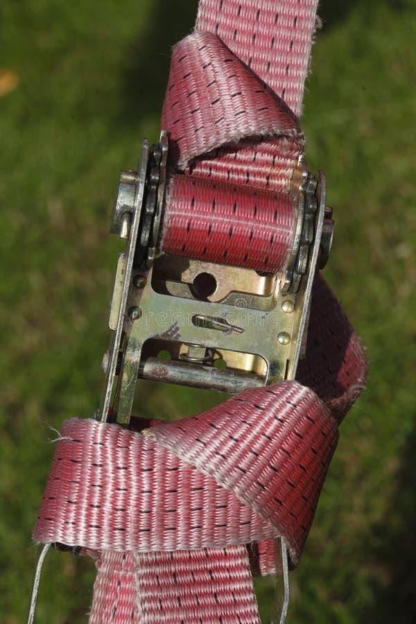 抨击皮带的棘轮 免版税图库摄影