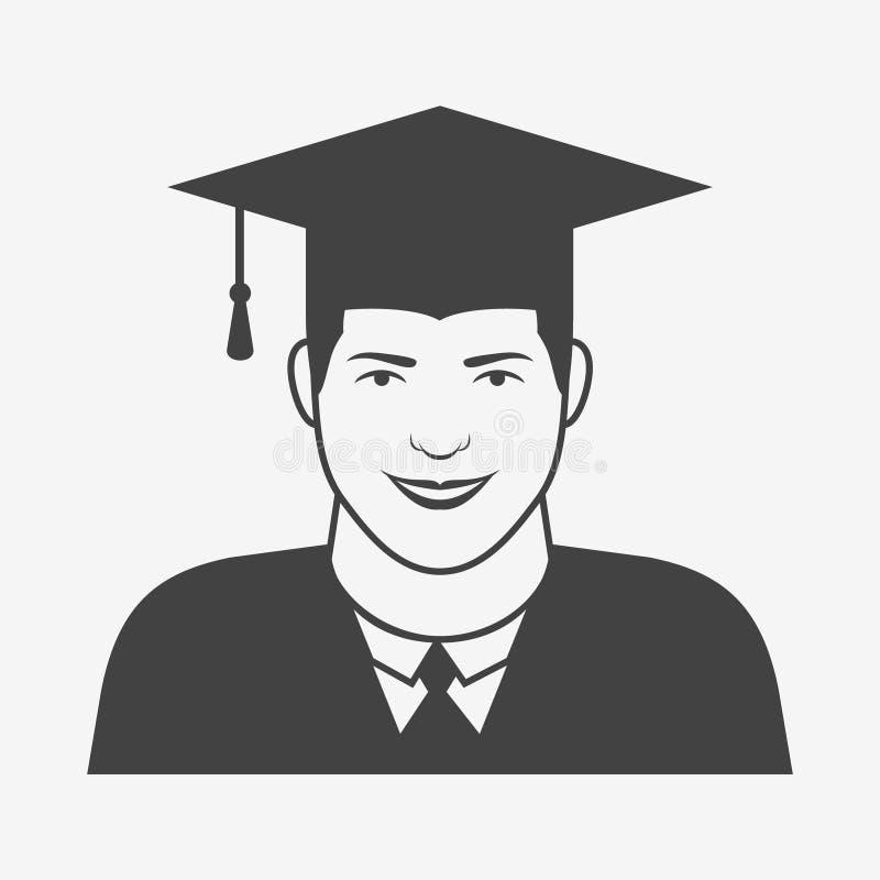 披风的男性毕业生和毕业加盖单色象 皇族释放例证