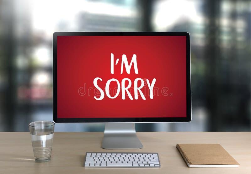抱歉原谅遗憾哟失败错误缺点差错遗憾Apolo 免版税库存图片