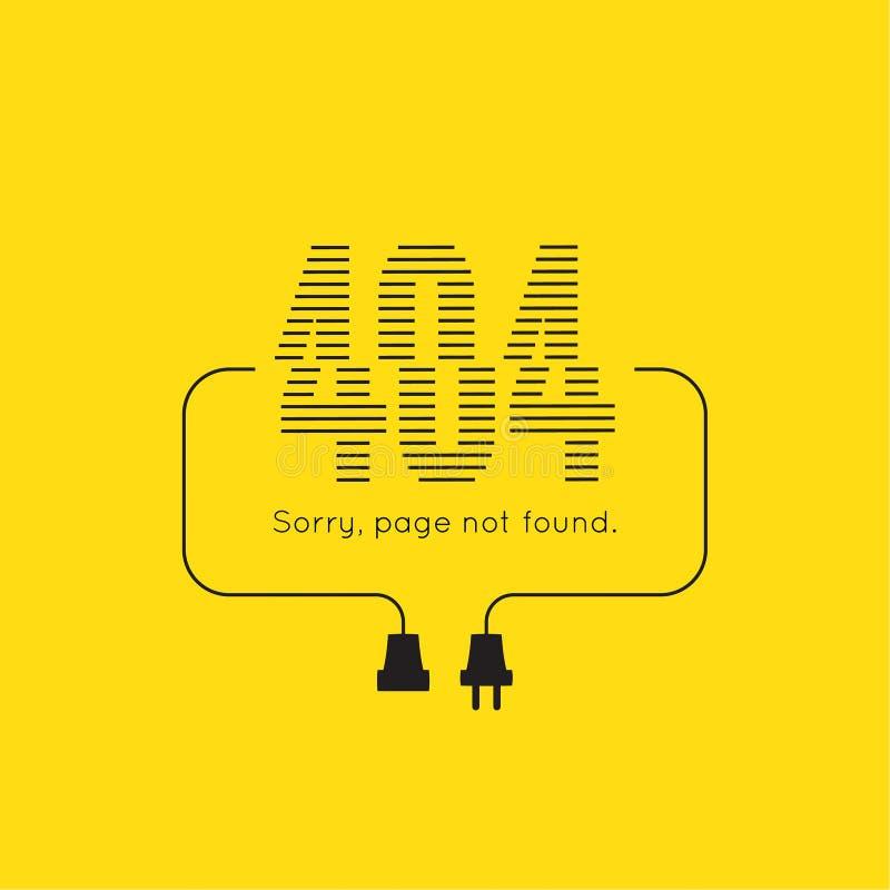 抱歉,没找到的页 库存例证