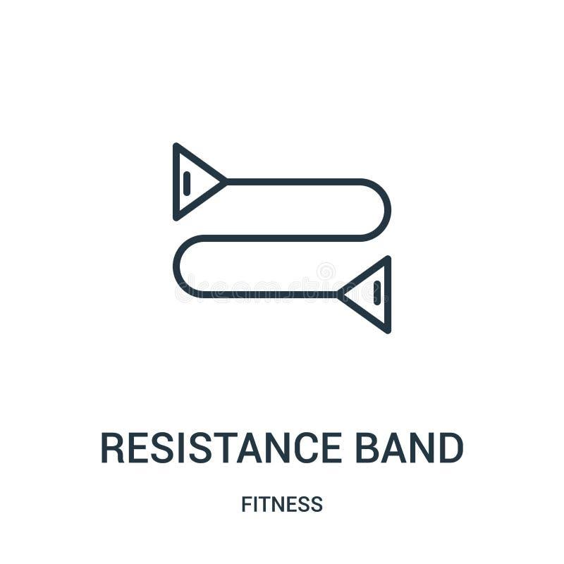 抵抗带从健身汇集的象传染媒介 稀薄的线抵抗带概述象传染媒介例证 线性标志为 库存例证