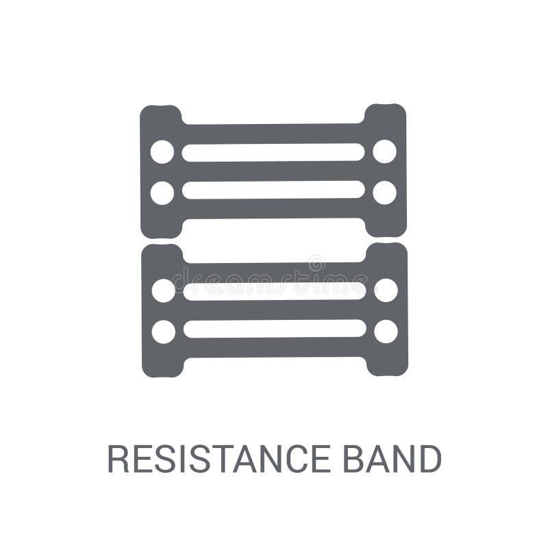 抵抗带象 在whi的时髦抵抗带商标概念 皇族释放例证