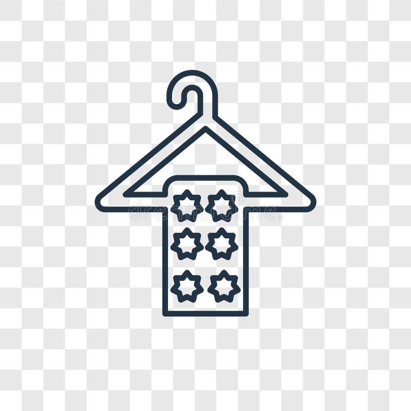 抹在被隔绝的挂衣架概念传染媒介线性象的毛巾  皇族释放例证