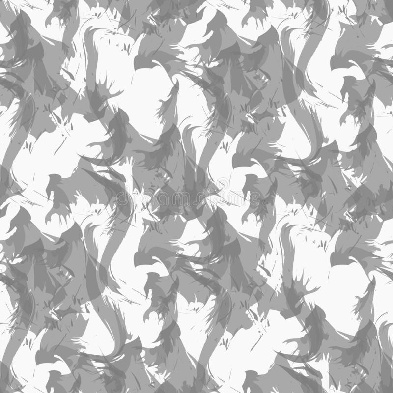 抽在白色背景样式传染媒介的无缝的纹理 烟无缝的样式 烟无缝的图象 库存例证