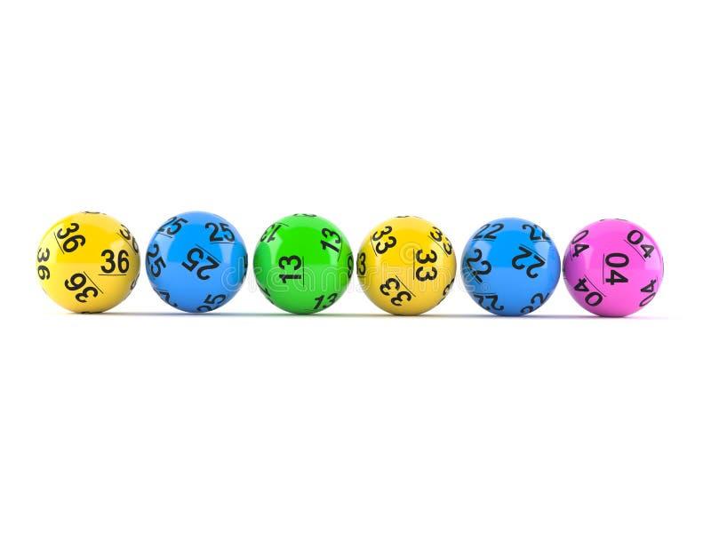 抽奖球 向量例证