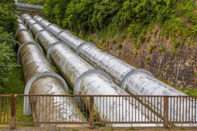 抽水蓄能能源厂 免版税库存照片