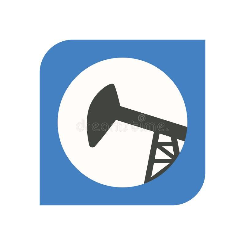 抽油杆泵浦标志;石油工业的图象 库存例证
