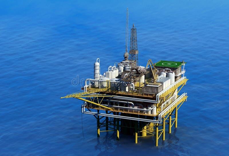 抽油装置 皇族释放例证