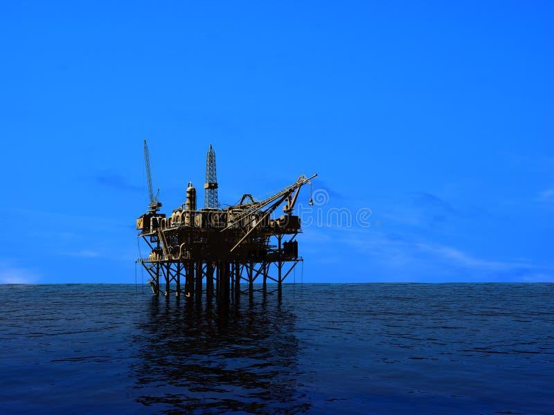 抽油装置 向量例证
