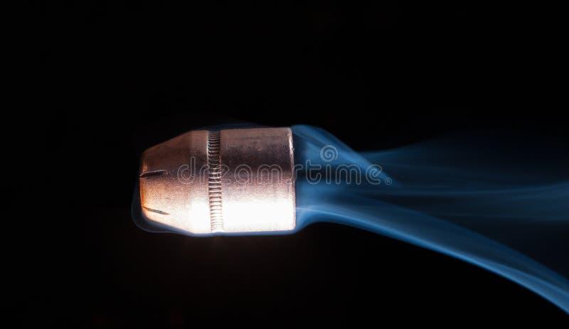抽烟的子弹 库存图片