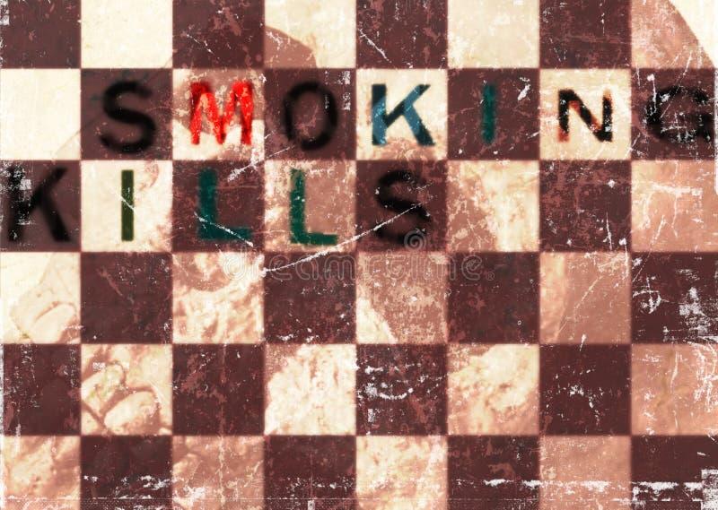 抽烟的杀害头骨脏的背景 库存照片