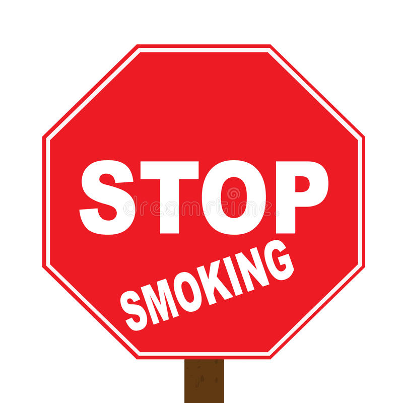 抽烟的终止 向量例证