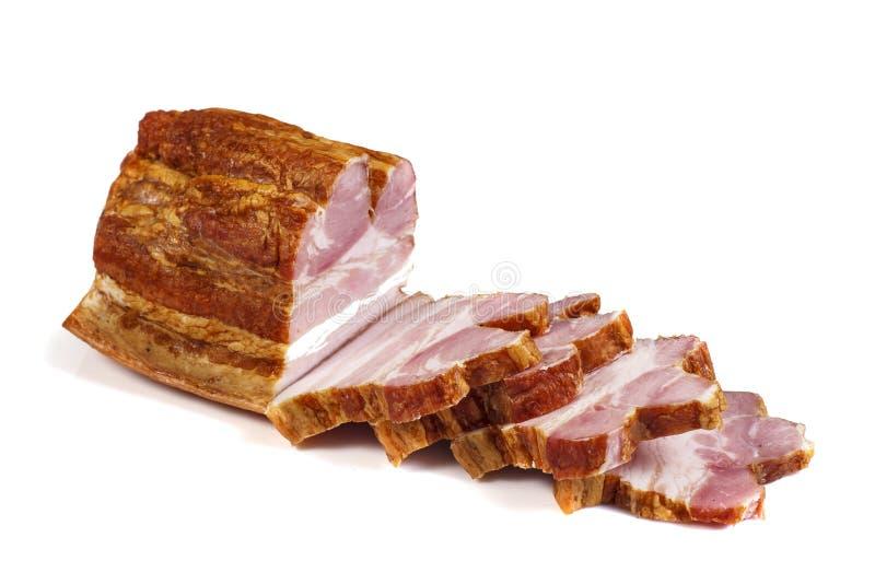 抽烟的肉 免版税图库摄影