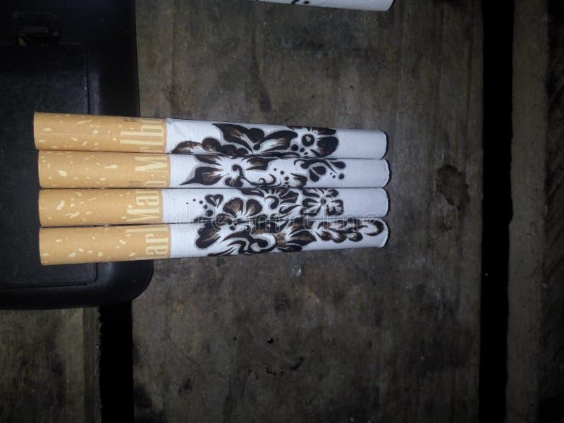抽烟的艺术 库存照片