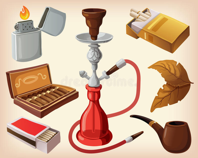 抽烟的设备 皇族释放例证