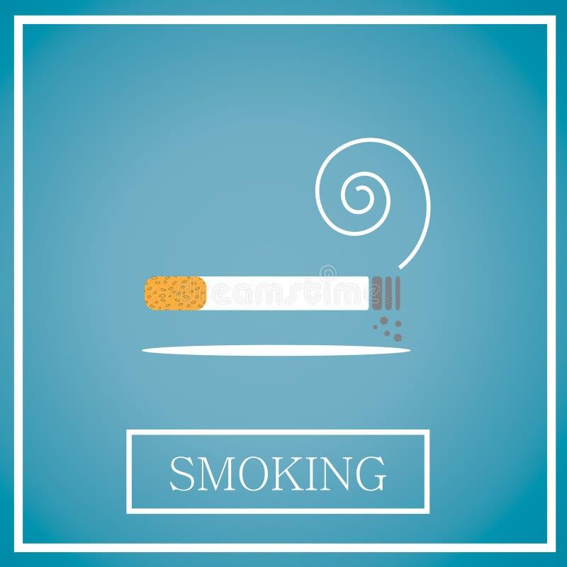 抽烟的象 向量例证