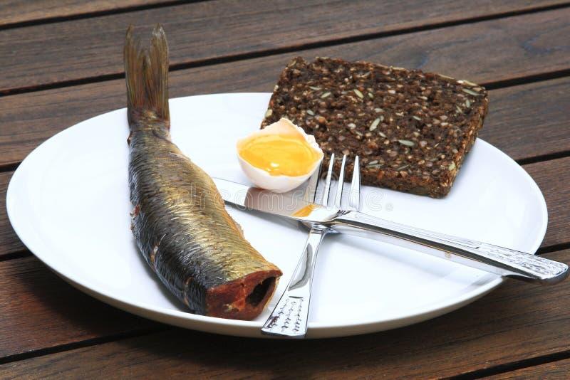 抽烟的鲱鱼 库存图片
