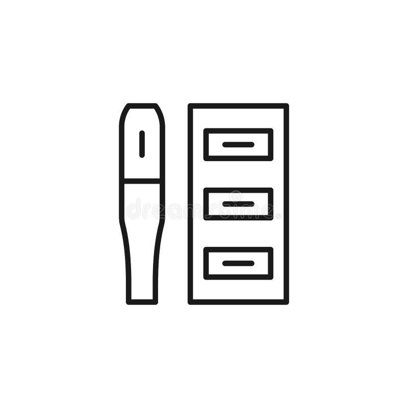 抽烟的Quit,尼古丁吸入器象 r 网站设计和发展的,应用程序稀薄的线象 库存例证