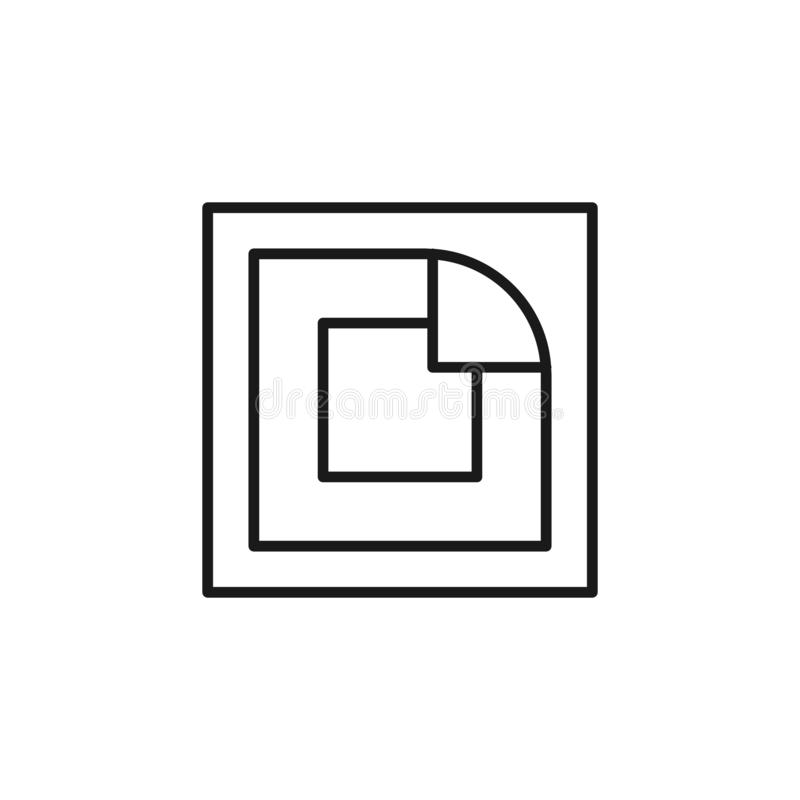 抽烟的Quit,尼古丁补丁象 元素的停止抽象 网站设计和发展的,应用程序稀薄的线象 向量例证