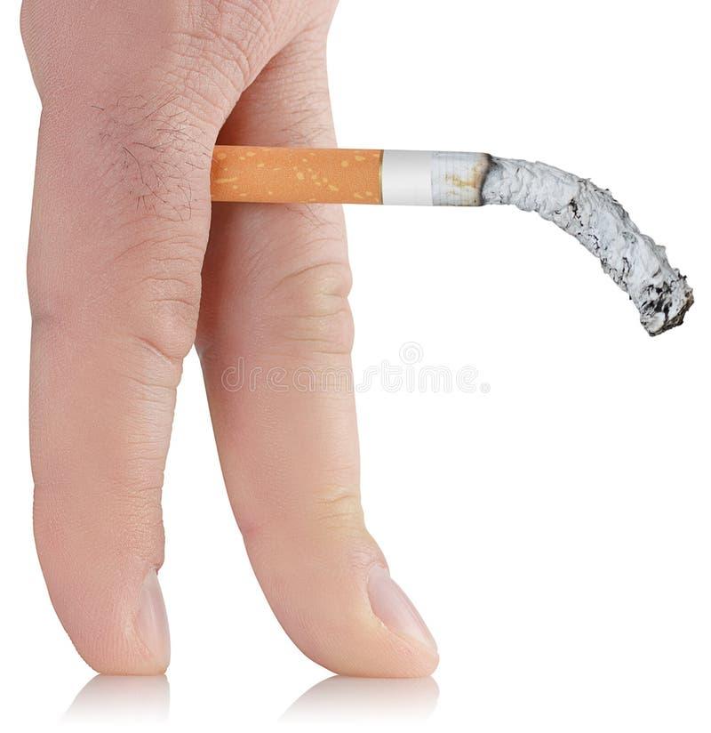 抽烟造成的无能 免版税图库摄影