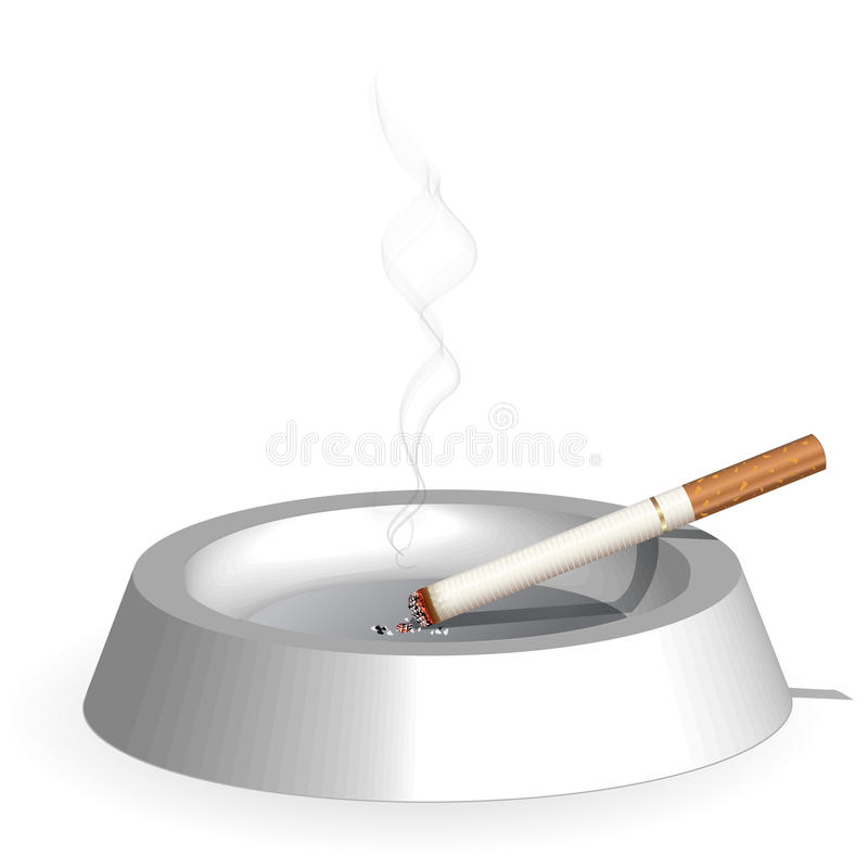 抽烟 皇族释放例证