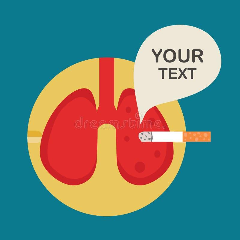 抽烟 库存例证