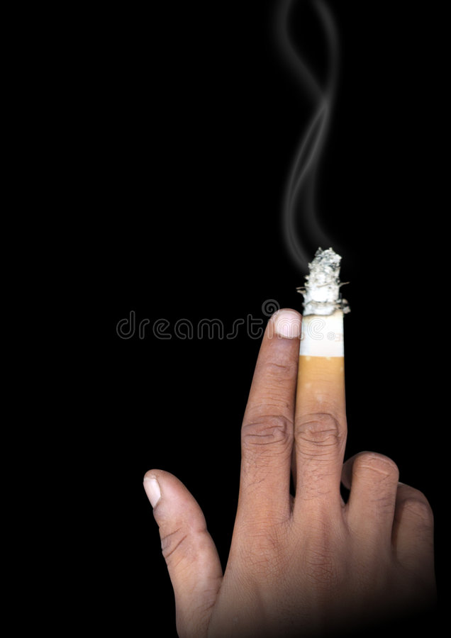 抽烟 免版税库存图片