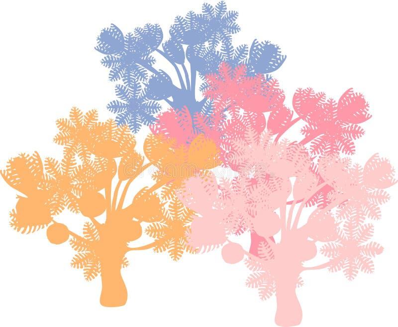 抽的齐尼亚珊瑚背景 皇族释放例证