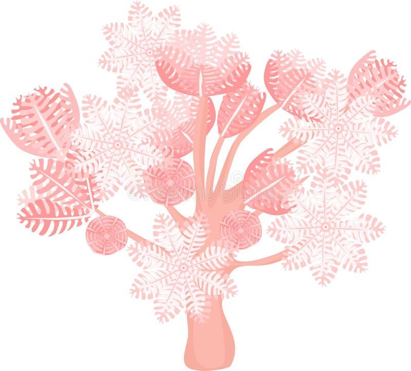抽的齐尼亚珊瑚 库存例证