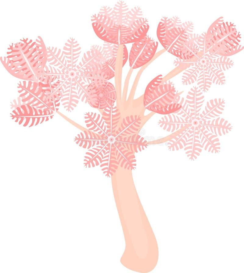 抽的齐尼亚珊瑚 向量例证