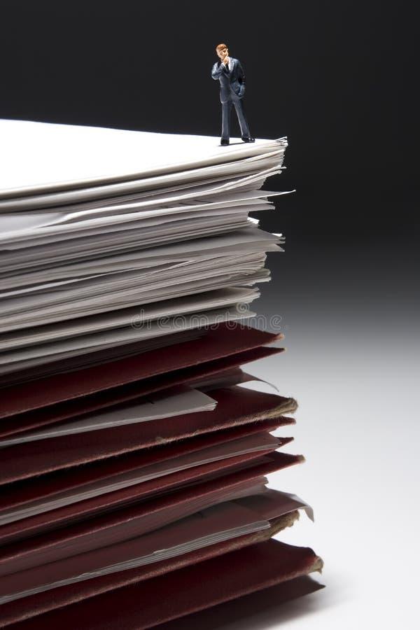 抽签文书工作 免版税图库摄影