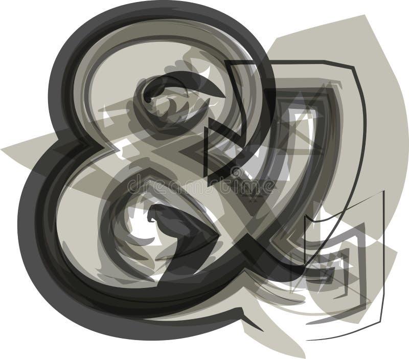 """抽象""""&""""号标志 皇族释放例证"""