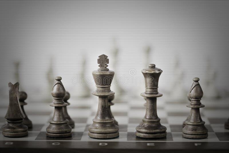 抽象一盘象棋 免版税库存照片