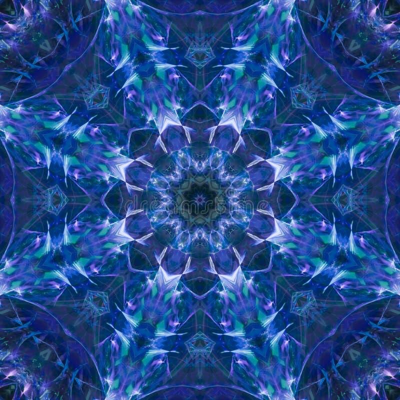 抽象万花筒样式数字装饰品能量概念装饰品形状音乐会复杂模板马赛克 皇族释放例证