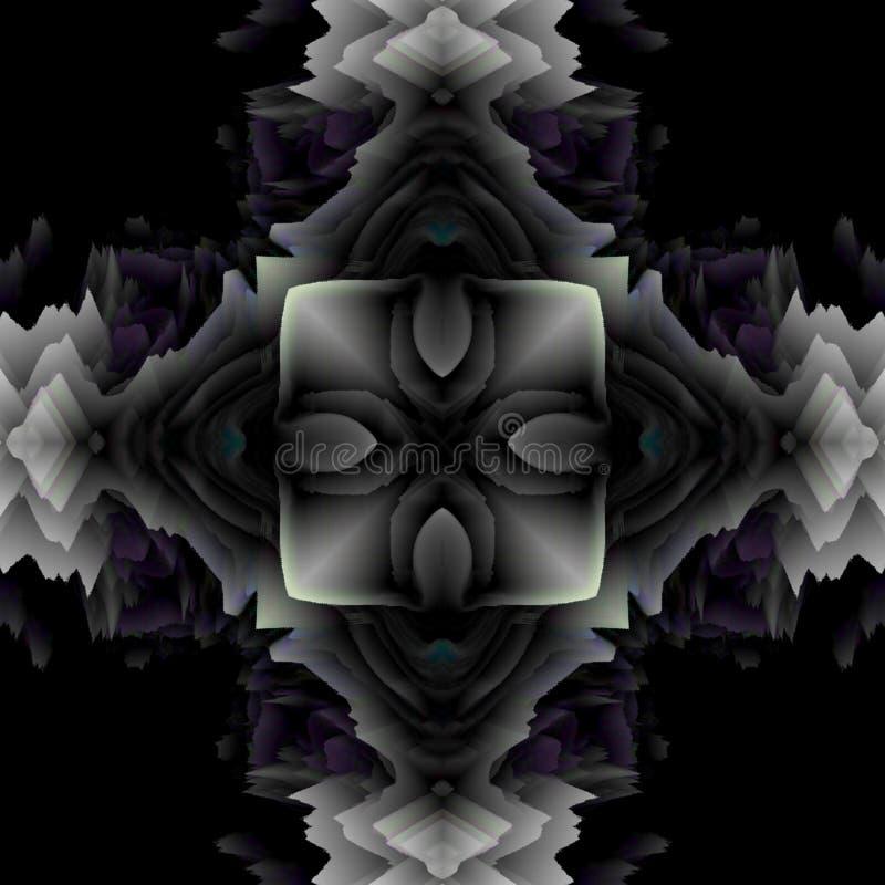 抽象万花筒背景,可以为设计、蜡染布主题、墙纸、织品、装饰品和装饰使用 皇族释放例证