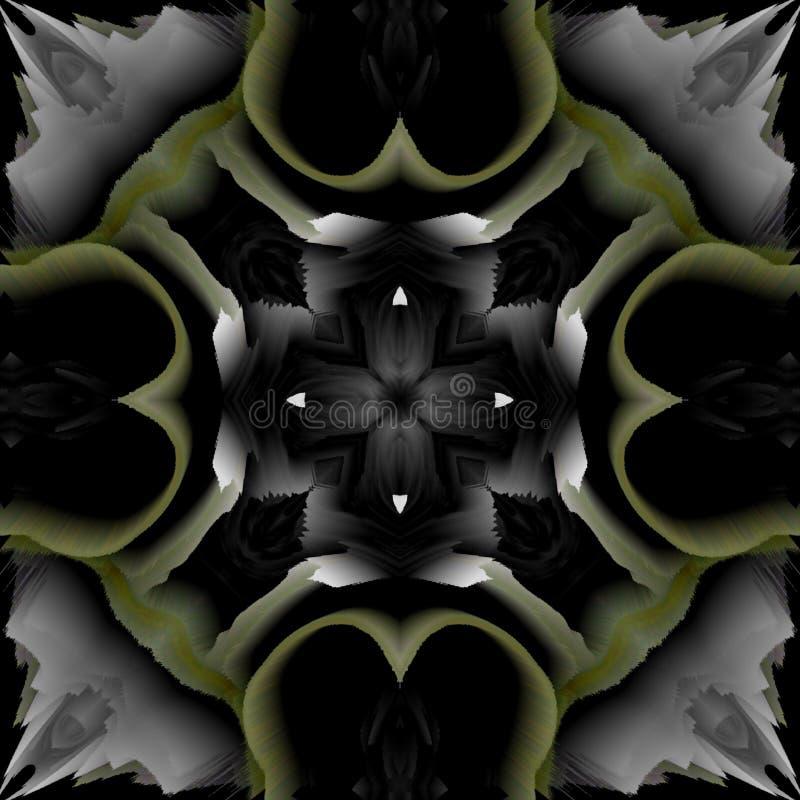 抽象万花筒背景,可以为设计、蜡染布主题、墙纸、织品、装饰品和装饰使用 向量例证