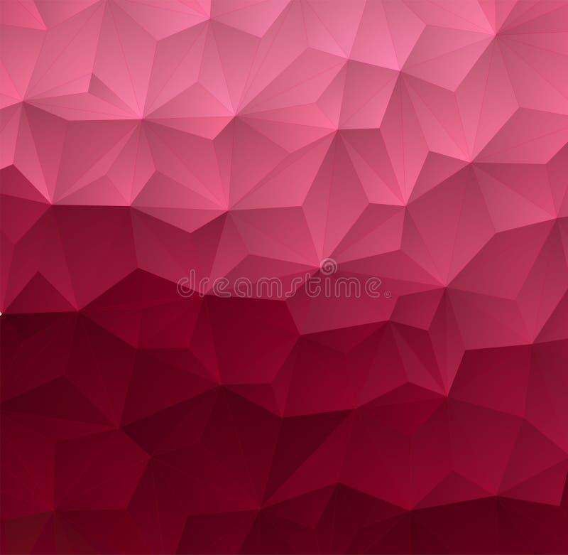 抽象三角几何五颜六色的背景 库存例证