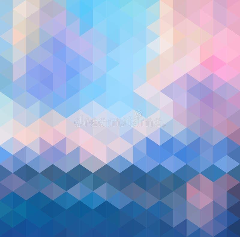抽象三角几何多彩多姿的背景,传染媒介例证EPS10 库存例证