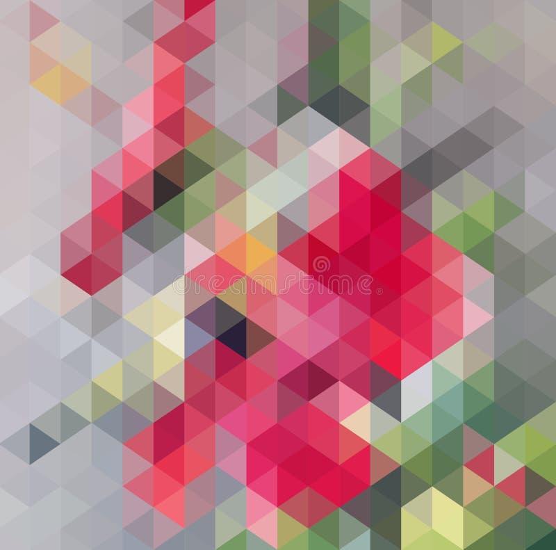 抽象三角几何多彩多姿的背景,传染媒介例证EPS10 向量例证