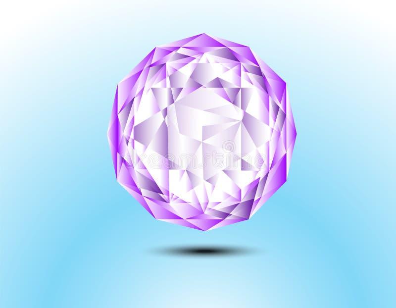 抽象三角几何背景 皇族释放例证