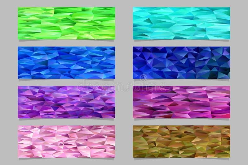 抽象三角多角形样式马赛克横幅模板背景设置了-导航从色的三角的设计元素 皇族释放例证