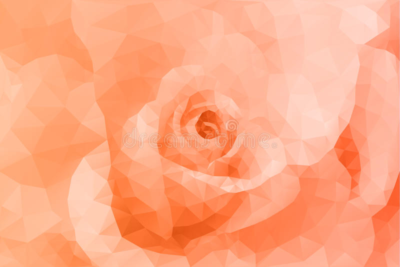 抽象三角多角形花卉橙色背景 皇族释放例证